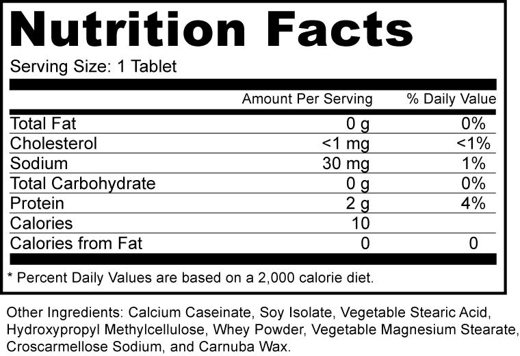 Amino Acid 2200 Mg Supplement Fact