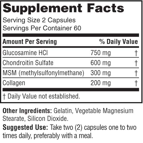 Glucosamine Joint Support Supplements Facts